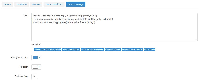 custom message setting